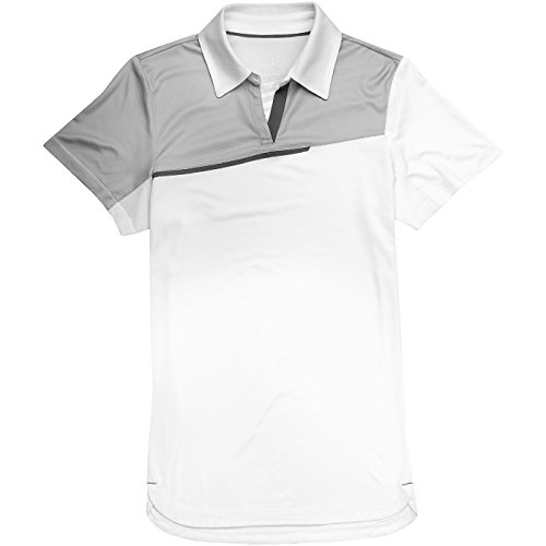Femme Clair Elevate gris Prater Manches Courtes Polo Blanc CPwO0PZd