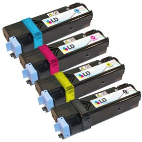 Xerox Combo (LD Compatible Xerox Phaser 6125 / 6125N Set of 4 High Yield Laser Toner Cartridges: 1 Black 106R01334, 1 Cyan 106R01331, 1 Magenta 106R01332, 1 Yellow 106R01333)