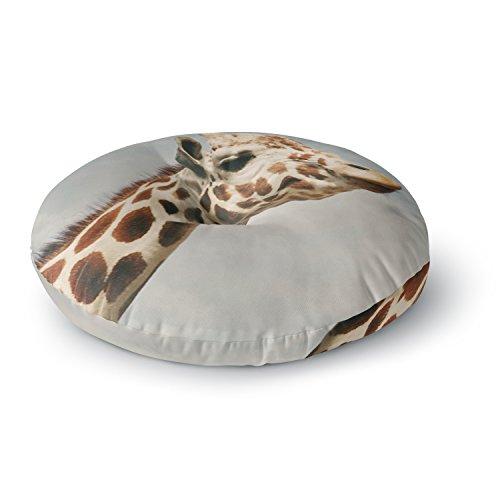 KESS InHouse Angie Turner Giraffe Animal Round Floor Pillow, 26'' by Kess InHouse