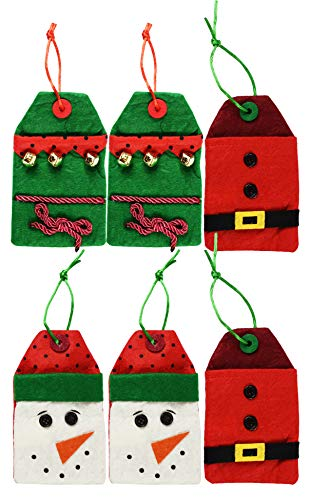 Set of 6 Christmas/Holiday Money/Gift Card Holder Gift Bags! 6