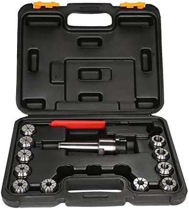 Precision ER32 Collet Set MT3 Shank Chuck /& Spanner W// Box For Milling Machine