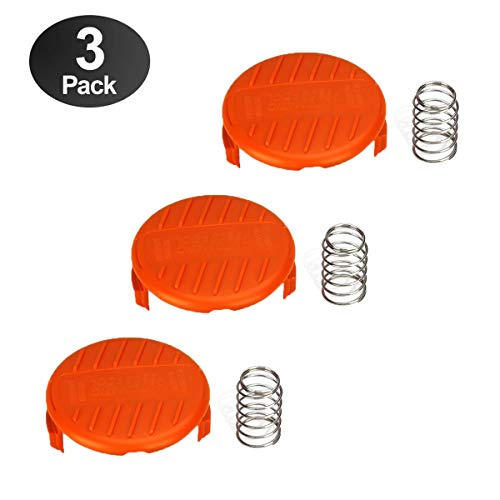 - wonuu 3 Pack Weed Wacker Parts Cap for Black and Decker Replacement Accessory RC-100-P 385022-03 for AFS Trimmer
