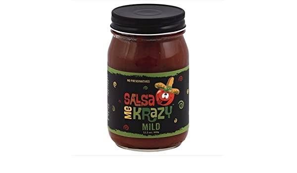 Amazon.com : Salsa Me Krazy 15.5 oz. Salsa Mild44; Case Of 6 : Grocery & Gourmet Food
