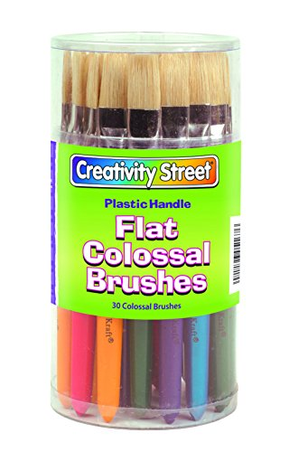 Colossal Paint Brush (Chenille Kraft 5167 Plastic Handle Colossal Flat Brushes, Assorted Colors. 30)