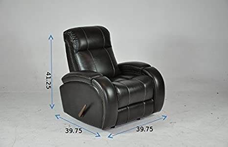 Amazon.com: Signature Design Cowhide Leather Recliner 2017 ...