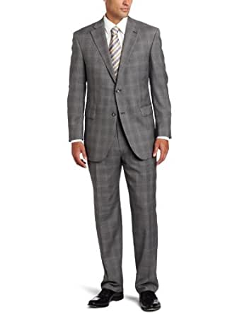 Austin Reed Men's Signature Two Piece Suit With Pleated Pant, Grey, 38 Short