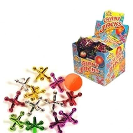 f6301950c47 Niños juego de Jacks gigante - 13 piezas a Set - colores surtidos en bolsa  de