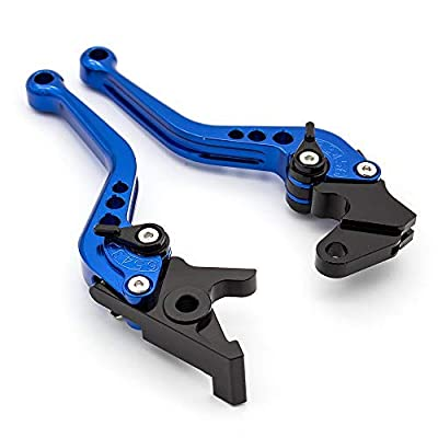FXCNC Racing Adjustable brake clutch levers fit for Yamaha Raptor YFM350 02-04,Banshee 350 02-06, Blaster YFS200 04-06,Raptor YFM660 01-05,YZ125/250 94-95,TTR125L/LE/LW 00-16: Automotive