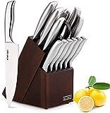 Knife Set, HOBO 14-Piece Kitchen Knife Set with Block Wooden,Self Sharpening for Chef Knife Set, Japan Stainless Steel Knife Set,Boxed Knife Sets,Best Gift