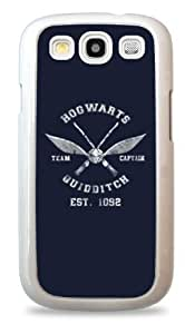 409 Quidditch Harry Potter Hogwarts Team Captain - White Silicone Case for Samsung Galaxy S3