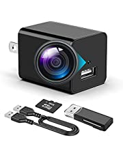 Hidden Camera - 1080P Spy Camera with Audio and Video - Mini Nanny Cam - Portable Motion Detection Small HD Secret Surveillance Camera Charger