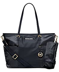 """Baby's first designer bag is as practical as it is stylish, in easy-to-clean, lightweight nylon with pockets for bottles and other necessities as well as a chic changing mat that makes mom happy, too. Nylon Double handles with 9-1/2"""" drop; ad..."""