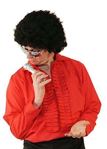 CL COSTUMES 60's-70's-80's Tom Jones- Disco- Red Ruffle Front Shirt - All Men's Sizes -