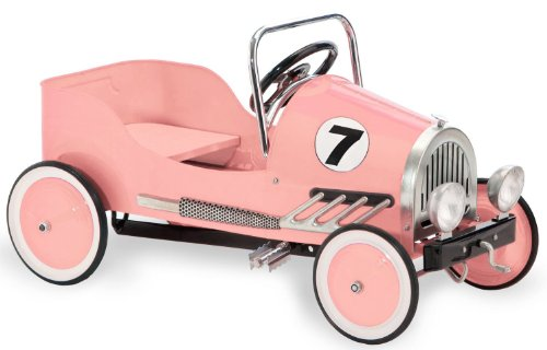 Morgan Cycle Pink Retro Pedal Car (Pedal Car Wagon)