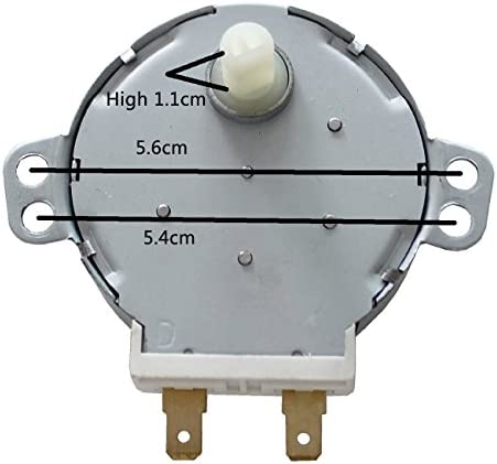 ZkeeShop TYJ508A7 Microwave Oven TYJ50-8A7 4W 5/6 RPM 11mm Synchronous Motor Spindle Turntable Motor