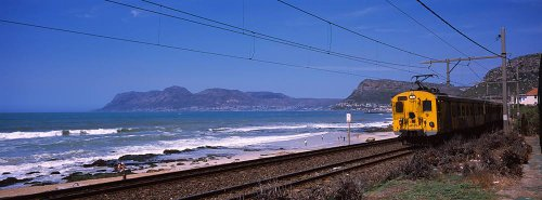 Walls 360 Peel & Stick Wall Murals: Train on Tracks False Bay (54 in x 20 in)