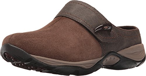 Easy Spirit Women's Eliana Clog,Brown/Brown Suede,US 5 M (Average Shoe Size For 5 5 Woman)