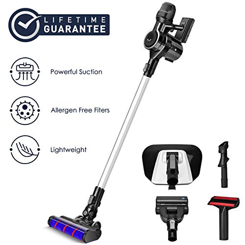 Cordless Stick Vacuum – Acum Pet Hair Vacuum Cleaner, Max 23 KPa Powerful Suction 6-in-1 Cordless Vacuum, Lightweight & 30min Lasitng Runtime, Ideal for Hardwood Floor Carpet Mattress Cleaning, Black
