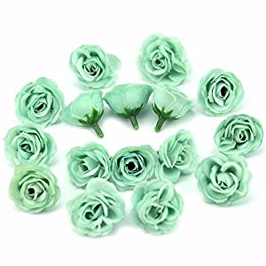 10pcs 3cm Mini Silk Artificial Rose Flowers Cloth for Wedding Party Home Room Decoration DIY Accessories Fake Flowers,Champange 3