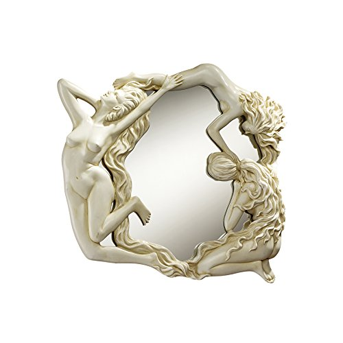 Design Toscano Dance of the Nymphs Sculptural Wall Mirror