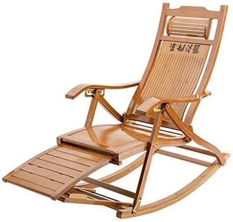 Hfyg Lettino Prendisole Bamboo Lounge Chair Sedia a Dondolo