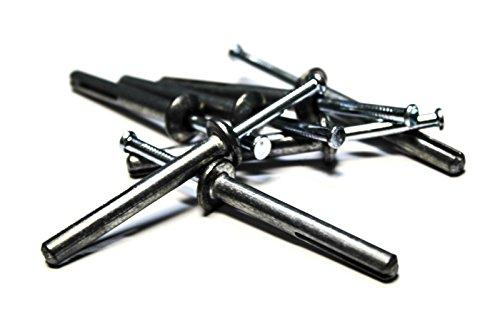 """(500) 1/4"""" x 2"""" Hammer Drive Concrete Anchor - Zinc"""