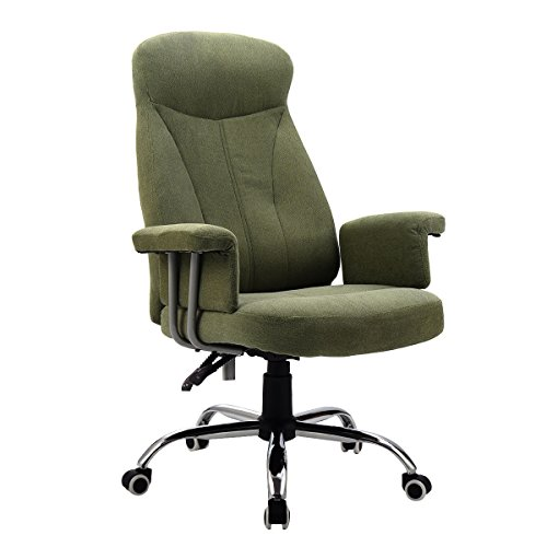 Reclining Office Chair High Back Padded Executive Computer Desk Task Recliner + FREE E-Book (Back Seat Hi Booster Car)