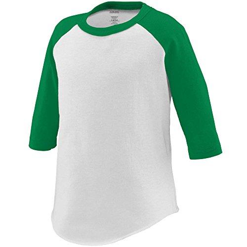 Augusta Sportswear Augusta Toddler Baseball Jersey, White/Kelly, 2/3T ()
