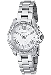 Fossil Women's AM4576 Cecile Small Three Hand Stainless Steel Watch - Silver-Tone