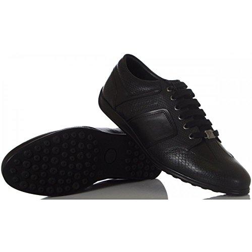 Versace Collection formal snake runner sneaker Schwarz