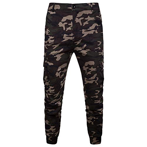 Clearence Men's Pants KpopBaby Camouflage Pocket Overalls, used for sale  Delivered anywhere in USA