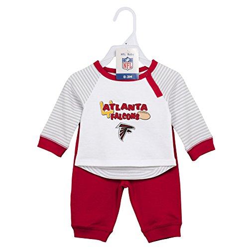 Outerstuff NFL Newborn Scrimage 2 Piece Shirt and Pants Set, Atlanta Falcons, Crimson, 6 Months