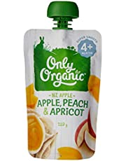 Only Organic Apple Peach & Apricot  4+ Months - 120g