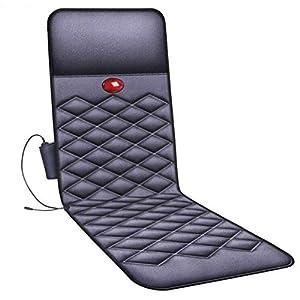 CHENXIU Shiatsu Massage Cushion with Heat Massage Chair Pad Kneading Back Massager Full Body Massage Mattress 10 Vibration Motors, Soothing Heat Therapy Remote Control for Home Office Seat Use