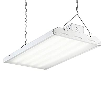 LED HIGH BAY Hanging Light 2' - 11,790 Lm, 5000K CCT Replaces 4 Light T8 Fluorescent - ENERGY SAVING - Low Maintenance