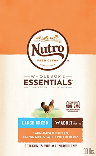 Nutro Wholesome Essentials Adult Large Breed Dry Dog Food Farm-Raised Chicken, Brown Rice & Sweet Potato Recipe, 30 Lb. Bag