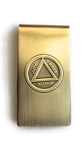 AA Logo Circle Triangle Unity Service Recovery Money Clip Brass Bronze - Double Circle Clip