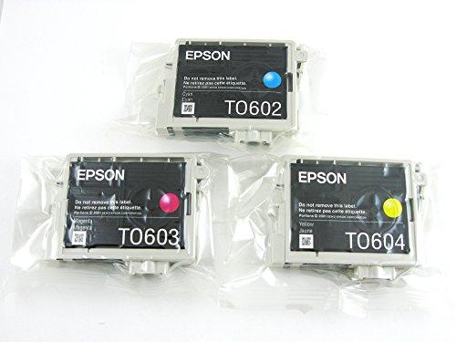 Genuine Epson T0602 T0603 T0604 Inkk Cartridges 3 pack in Original Bulk Packaging for Epson Stylus C88 D88 CX4800 DX3800 (Epson Stylus Cx4800 Printer)