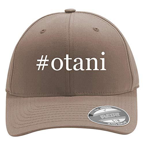 #Otani - Men's Hashtag Flexfit Baseball Cap Hat, Khaki, Large/X-Large