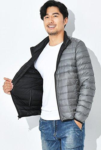 Uomini Nero Colletto Ultra Full Coreana Alla zip Piumino Reversibile Chouyatou Packable TTgq6wAr