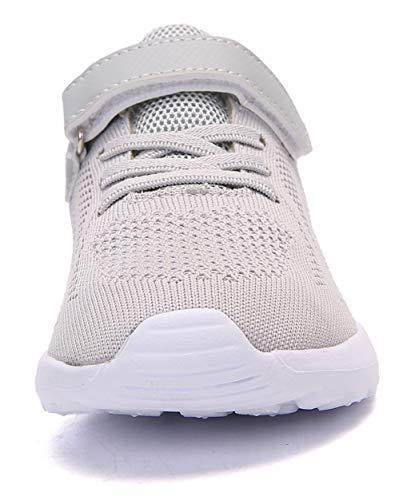 Pictures of Boy's Girl's Lightweight Walking Sneakers Gray1 4.5 M US Big Kid 7