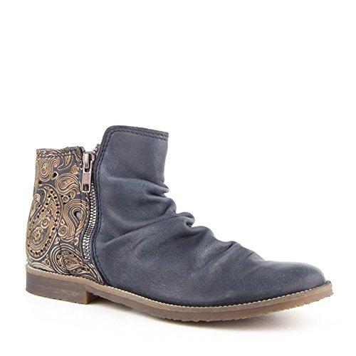 Felmini - Damen Schuhe - Verlieben Clash 8733 - Stiefeletten - Echte Leder - Blau