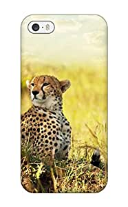 Iphone 5/5s Case Cover - Slim Fit Tpu Protector Shock Absorbent Case (cheetah Savanna Africa)