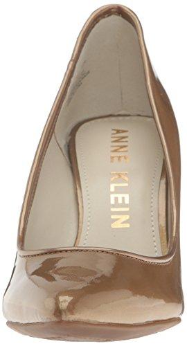 Anne Klein Womens Falicia Brevetto Pompa Oro Medio