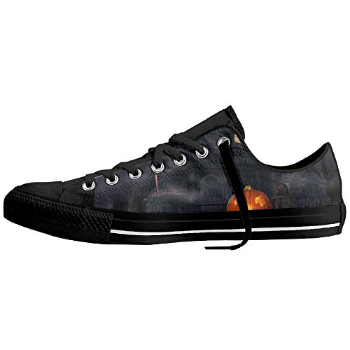 Full Moon Hallowmas Halloween Low-Cut Canvas Shoes Unisex Sneaker-All Season Casual Trainers For Men And Women ColourName Sizekey