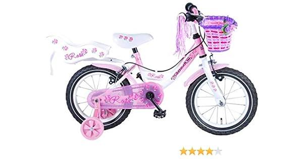 Bicicleta Niña Chica Rose 14 Pulgadas Frenos al Manillar Cesta y ...