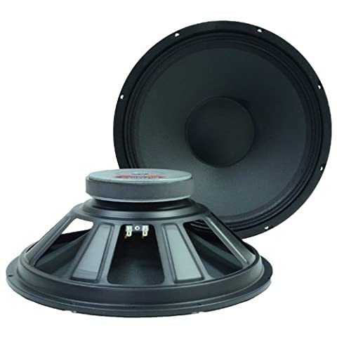 Seismic Audio Q 15 Pair 2 of 15-Inch Raw Speakers Woofers Replacement Pro Audio PA/DJ (Subwoofer And Amp 15)