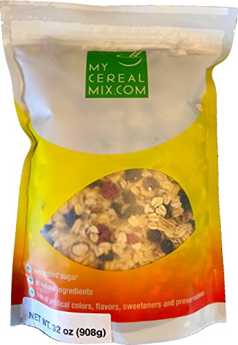 - 50% Nuts, Fruits and Seeds Muesli - No Sugar Added All Natural Muesli Cereal (Apple & Apricot)