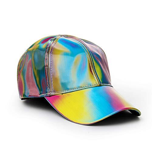 COSFLY Unisex Back Adjustable Future Baseball Cap Hip Hop Hat Color Changing Rainbow Snapback Peaked Cap (Multicolor -