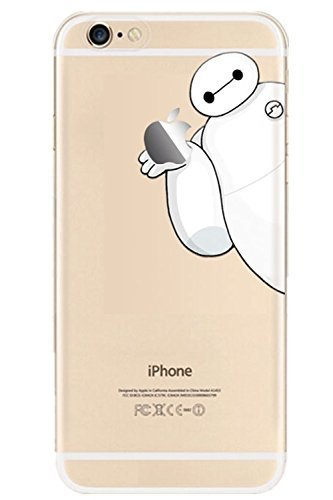 Generic TPU Soft Case Compatible for Iphone 6 4.7 Color Transparent with Printed Animal